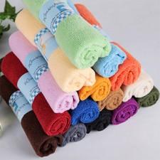 【8143-超细纤维25*50毛巾】纯涤毛巾批发 清洁巾/百洁布