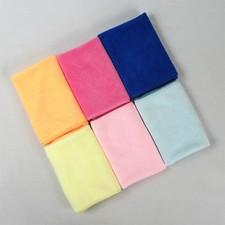 【8141-超细纤维25*25小方巾】纯涤方巾 清洁巾厨房抹布 百洁布