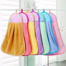 【9350-挂式擦手巾】  纳米珊瑚绒 超柔软