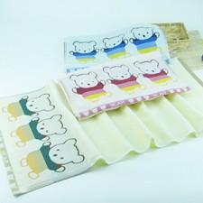 【6262-三只熊童巾】洁丽雅同款  高档棉儿童小毛巾