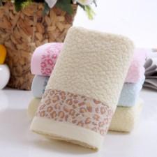 【6389-4  豹纹毛巾】棉 超柔面巾 礼品毛巾