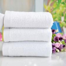 【B14000-70克、80克、90克、100克】白毛巾 宾馆洗浴专用