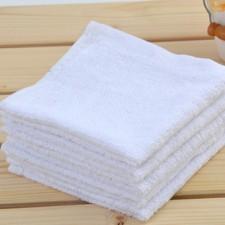 【BF2118-18克小方巾】白色酒店一次性方巾
