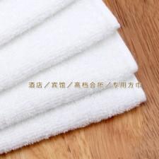 【BF2130-30克小方巾】白色纯棉酒店一次性方巾