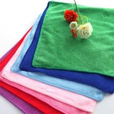 【8142-超细纤维30*30方巾】纯涤方巾 家庭清洁小帮手