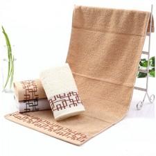 【6421 窗花窗格毛巾】 32股纯棉毛巾 公司劳保福利