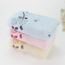 【6373 七朵玫瑰纯棉毛巾】厂家直销 高档纯棉毛巾 超市直供