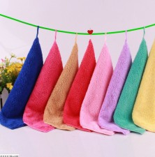 【9351-珊瑚绒25*25】韩国巾加厚清洁小方巾 厨房必备