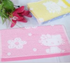 【6266-kitty猫网格无捻童巾】棉 童巾 小毛巾