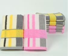 【5008-炫彩条纹毛巾】厂家直销32股纯棉毛巾商超福利劳保馈赠广告日用品
