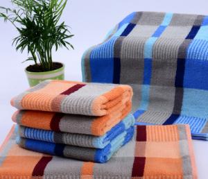 【5005-英伦彩格毛巾】厂家直销纯棉超市高端毛巾