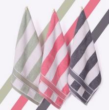 【5028-英伦条纹方巾】厂家直销纯棉柔软吸水方巾