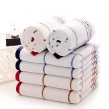 【5011-方格线条方巾】厂家直销纯棉线条方格毛巾礼品福利