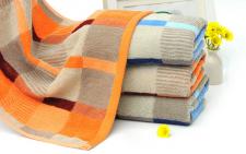 【5007-英伦彩格纯棉浴巾】厂家直销批发纯棉加厚浴巾 成人纯棉浴巾