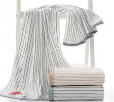 【5019-条纹纯棉浴巾】厂家直销 全棉加厚吸水浴巾 柔软舒适成人浴巾