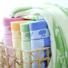 【6502-苹果浴巾】厂家直销 70*140纯棉大浴巾 色毛提花苹果浴巾 劳保福利