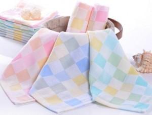 【6211-纱布彩格方巾】厂家直销 婴儿口水巾 纯棉纱布方巾 宝宝喂奶巾 双层手帕