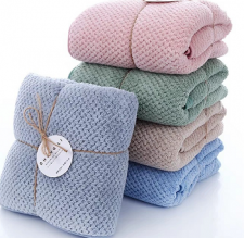 9383-蜂窝超柔素色浴巾